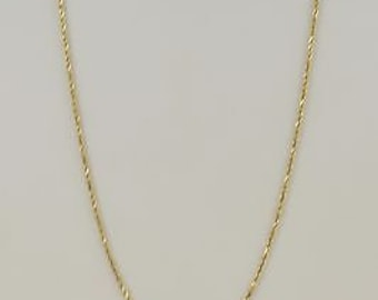 14k Yellow Gold Rope Style Chain/Necklace 24.25'' 4.8 Grams