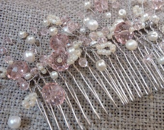 Bride comb bridal comb bridal hair comb rhinestone comb hair comb crystal comb wedding headpiece bridal crystal comb weddings pearlhair comb