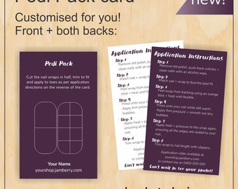 Customised Pedi Pack for Jamberry in fig!