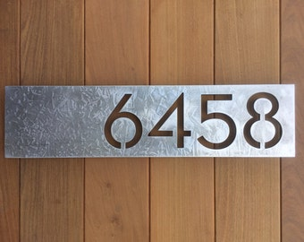 Highland GALVANIZED House Numbers SALE!!!