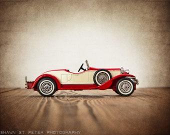 Red and White 1931 Stutz Bearcat, One One Photo Print, Boys Room decor, Vintage Car Prints