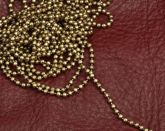 Ball Chain, 2.5mm, brass antique , 10' spool C686G