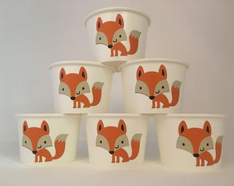 Fox Party Snack Cups, Fox Baby Shower, Woodland Baby Shower Snack Cups, Woodland Party, Fox Birthday Party Cups, Woodland birthday Party