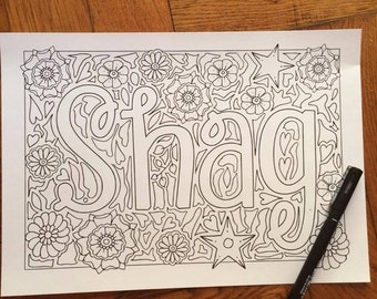 30 Page Sweary Coloring Book Sweet Swears Pages INSTANT