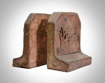 California Claycraft Muresque bookends Los Angeles 1920's