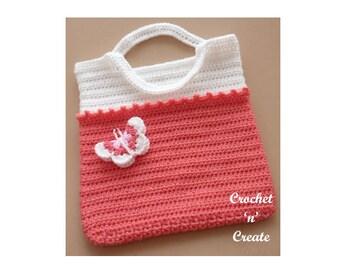 Tote Bag Crochet Pattern (DOWNLOAD) CNC34