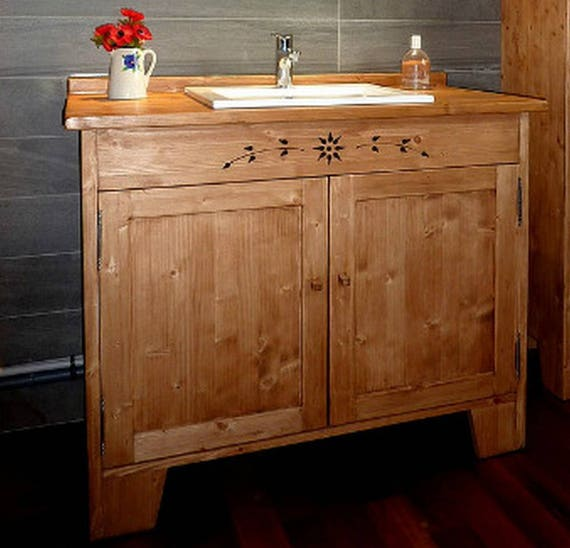 meuble salle de bains sous vasque artisanal sur mesure en bois. Black Bedroom Furniture Sets. Home Design Ideas