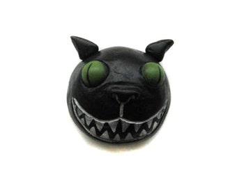 Halloween Magnet - Spooky Cat Magnet - Spooky Cat Pin