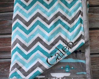 Add Embroidery to Minky Blanket