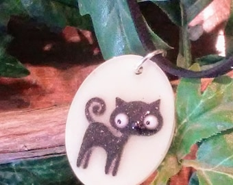 Lucky Black Cat resin charms