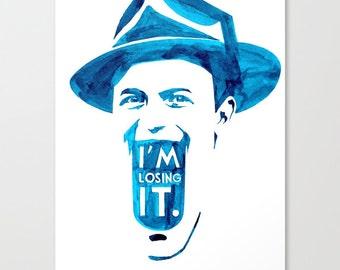 Last Words of Frank Sinatra // Chromogenic Photographic Print//Blue India Ink