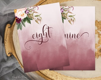 Table Number Cards - Wedded Bliss (Style 13758)