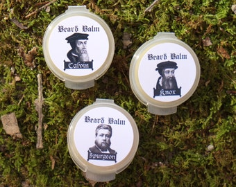 Set of 3 Travel Size Beard Balm from Generational Goods Theologian Series Black Friday Sale