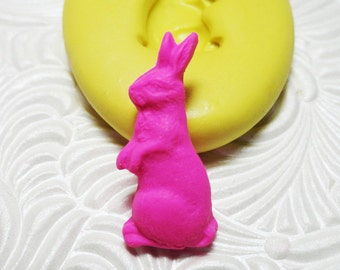Chocolate Bunny Mold Flexible Silicone Rubber Push Mold for Resin Wax FIMO Fondant Royal Icing Chocolate Polymer Clay Metal Clay