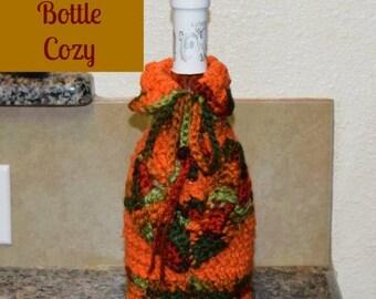 Autumn Wine Bottle Cozy Crochet Pattern