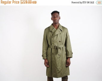 Closing SALE 55%  - 1950s Military Jacket - 50s Trench Coat - Vintage Army Grunge Jacket - 1747