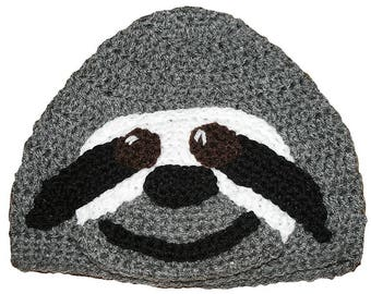 Hand Crocheted Sloth Hat HH180