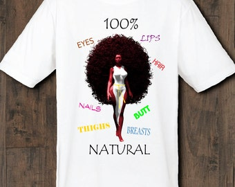 "Black Art ""100% Natural"" Woman's Cotton t-shirt"