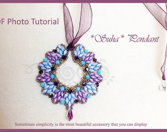 Photo Tutorial  ENG-ITA ,DIY Pendant,*Suha* pendant ,PDf Pattern 30