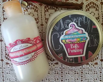 Bath Frosting - Whipped Soap - Fluffy Soap - Fluffy Whipped Soap - Christmas Bath Set - Christmas Bath Gift - Pine Scented Bath Frosting