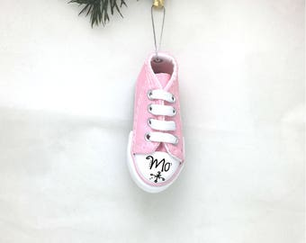 Sneakers Personalized Christmas Ornament / Court Shoes / Classic Sneakers / Hand Personalized with Name or Message
