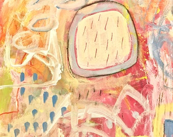 Original Abstract Art on paper, home decor, contemporary art