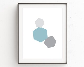 Minimalist Wall Art, Blue Wall Art, Geometric Wall Art, Geometric Print, Abstract Art, Scandinavian Art, Geometric Art, Downloadable Prints