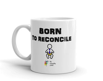 Accountant Mug Born to Reconcile, Funny Accountant Gift, Accounting Mug, Bookkeeper Mug, Accounting Humor, Bookkeeper Gift, Office Gift