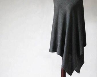 Cashmere poncho, cashmere sweater, women's poncho, knit poncho, gray poncho, women's sweater, women's cape, knit cape, wool poncho
