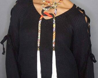 Dashiki Wrap Necklace
