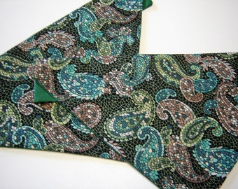 ALMOST GONE!  Mosiac Paisley Dog Scarf Over the Collar Dog Bandana