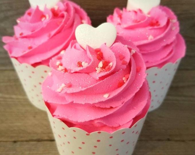 Pink Hearts Bubble Bomb Cupcake
