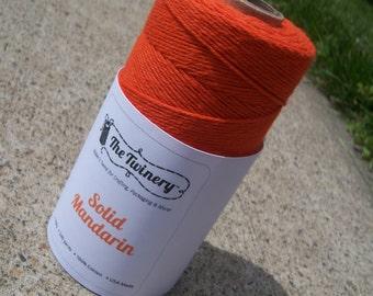 FULL SPOOL - Twinery Twine - 100% Cotton - Mandarin Orange - 240 Yards