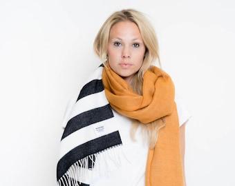 nice Merino scarf stripes – curry