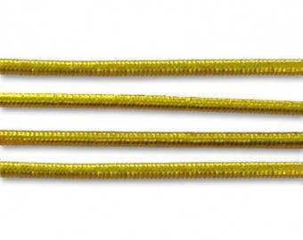 1 m elastic yarn wrapped 1 mm gold-