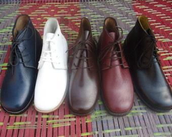 Civil War Brogans 100% PREMIUM GRAIN LEATHER Jefferson Boots Dress Brogans