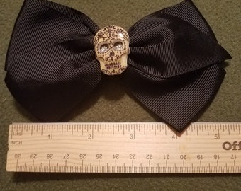 Sugar skull hair bow