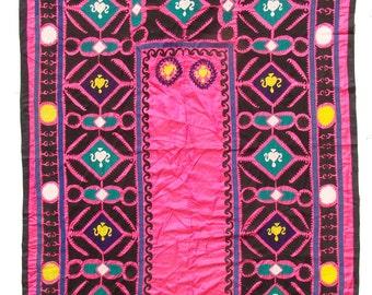 Suzani Wall Hanging, Handmade Vintage Suzani  VS38 (NL2133), Uzbek Suzani, Suzani Blanket, Suzani Tapestry, Suzani Bedding, Wall Art