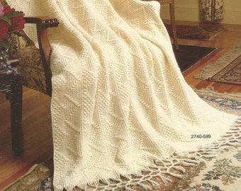 Crochet Candlewick Afghan  /OhhhMama/  Lap Blanket Bedspread Throw Afghan  Wrap  vintage pattern instant download pdf