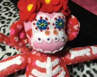 Dia De Los Monos Day of the Dead Sock Monkey