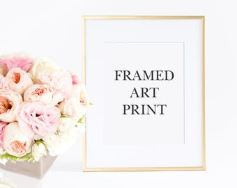 Gold Frame, 11x14 Framed Art Print , Gold Picture Frame  with 11x14 Art Print