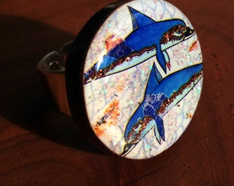 Dolphins from Ancient Knossos Ring