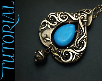 Tutorial - Metal Clay Sky Guide - Pendant with Turquoise Stone