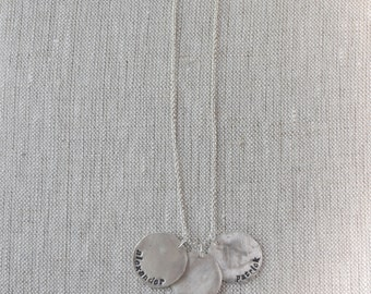 Personalized Fine Silver Necklace and Charms