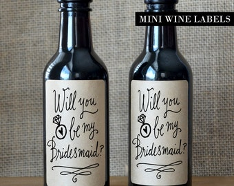 Bridesmaid Proposal Wine Label  - Will you be my Bridesmaid Wine Label