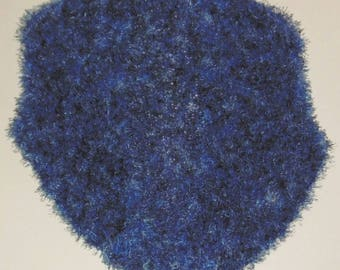 beautiful brilliant blue shawl