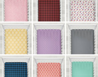Custom Fitted Crib Sheets Baby Gift Nursery Bedding Girl or Boy Flannel Crib Sheet Baby Crib Sheet Baby Room Toddler Bed Sheet