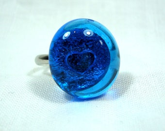 Glass Ring - Heart