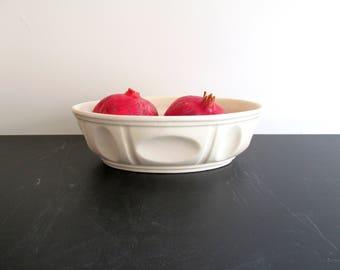 Vintage Ivory Haeger Pottery Planter Bowl Number 3929 USA Mid Century