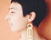 WINDOW brass earrings